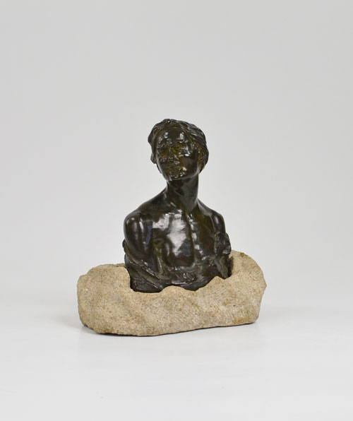 Bust of oriental guy
